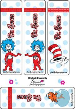printable bookmarks dr seuss bookmarks dr seuss bookmarks free printable ideas from