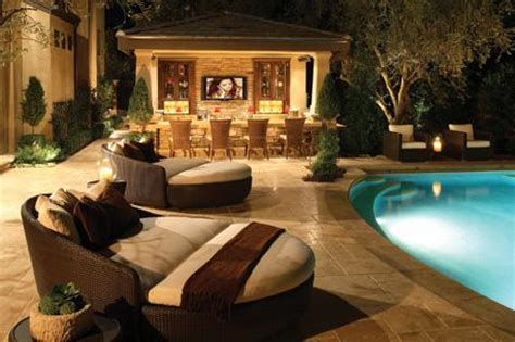 Backyard Lounge Ideas Outdoor Rustic Bar Ideas Images