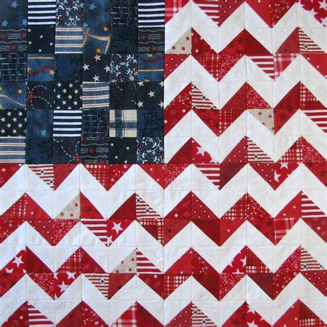 Patriotic Quilt Blocks such a sew and sew zig zag flag and other patriotic quilt