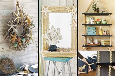 diy home decoration ideas 36 breezy beach inspired diy home decorating ideas