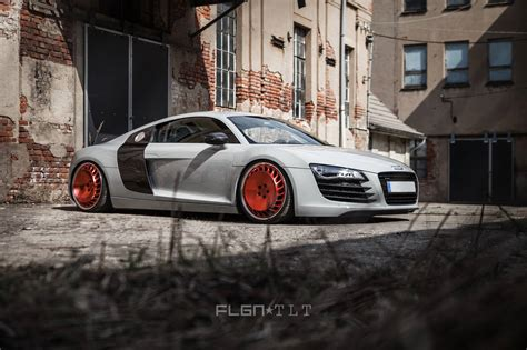 audi r8 slammed craziest custom wheels on a supercar messer turbo fan