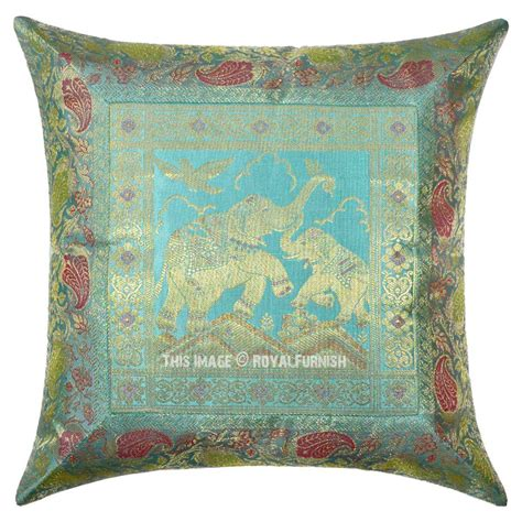 Silk Throw Pillows by Grey Baby Elephant Featuring 16x16 Silk Throw Pillow Cover