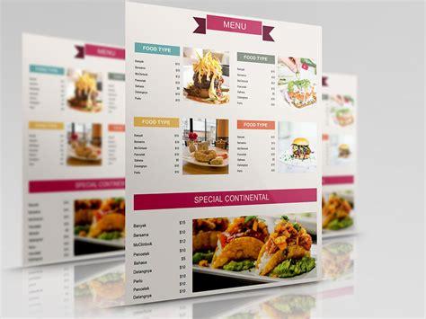 35 luxury restaurant menu design templates free download free