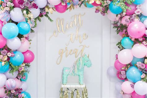 this unicorn themed 1st birthday party is definitely the