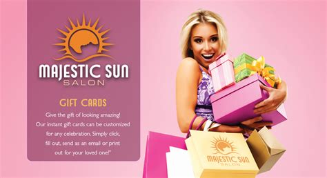 Majestic Gift Card - gift cards majestic sun salon