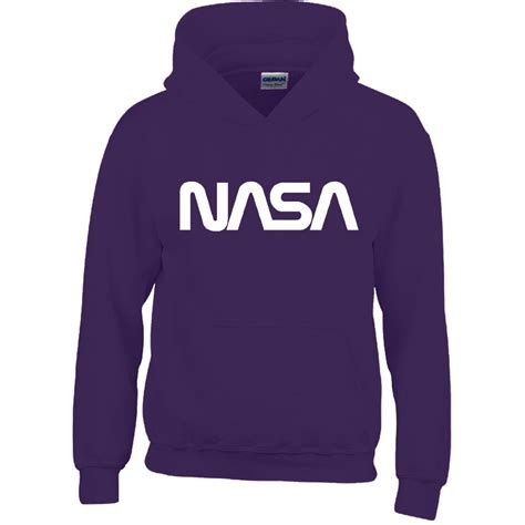 Hoodie Nasa Hitam 5 mens boy unisex nasa hoodies sweatshirt pullover sweat hoody all sizes ebay