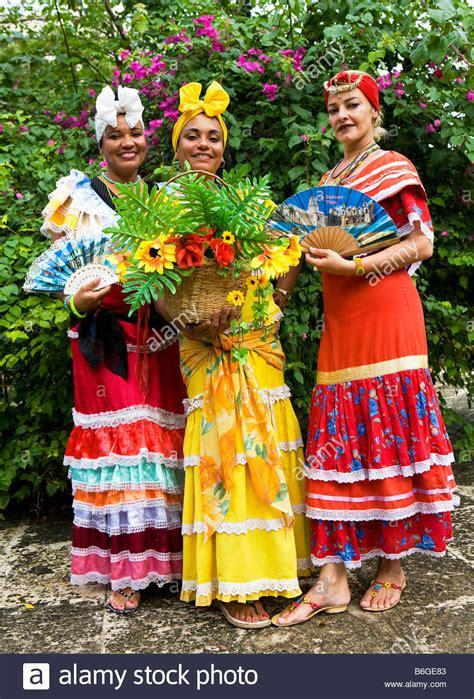 Cuba Dress cuban in traditional dress plaza de armas