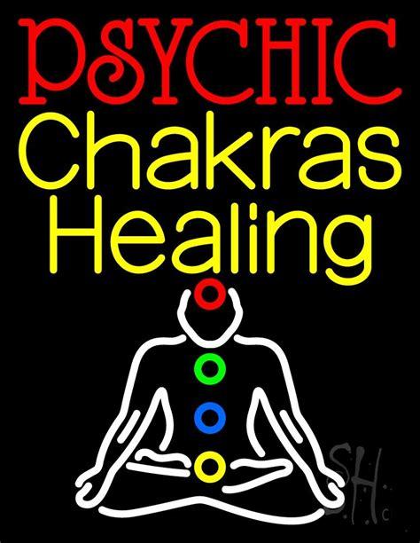 white neon light sign white psychic chakras healing neon sign psychic neon