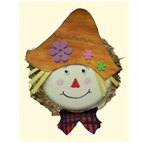 Paper Plate Scarecrow Craft - paper plate scarecrow