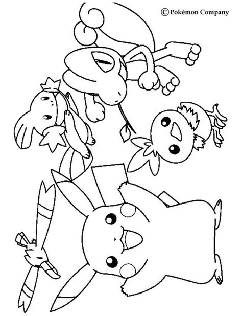 pokemon coloring pages torchic wingull mudkip pikachu treecko and torchic coloring