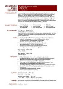 Nhs Director Sle Resume by Sales Manager Cv Exle Free Cv Template Sales Management Sales Cv Marketing