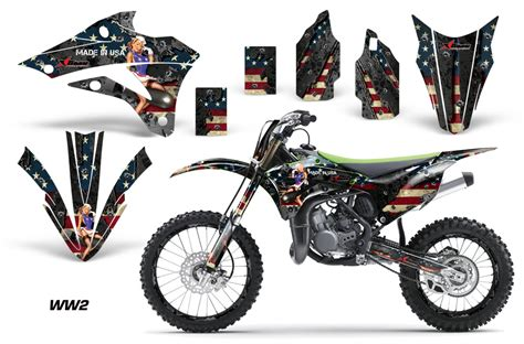 Big Racing Bike Aufkleber by 2014 2016 Kx85 100 Graphics Kit Kawasaki Motocross