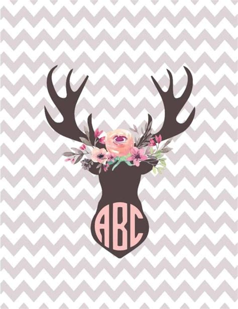 silhouette monogram printables customize
