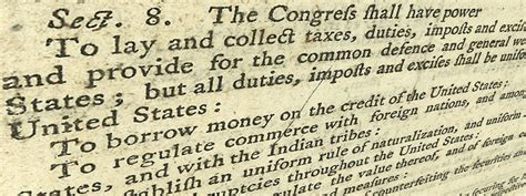 what is article 1 section 8 commonly known as tax day and the founders journal of the american revolution