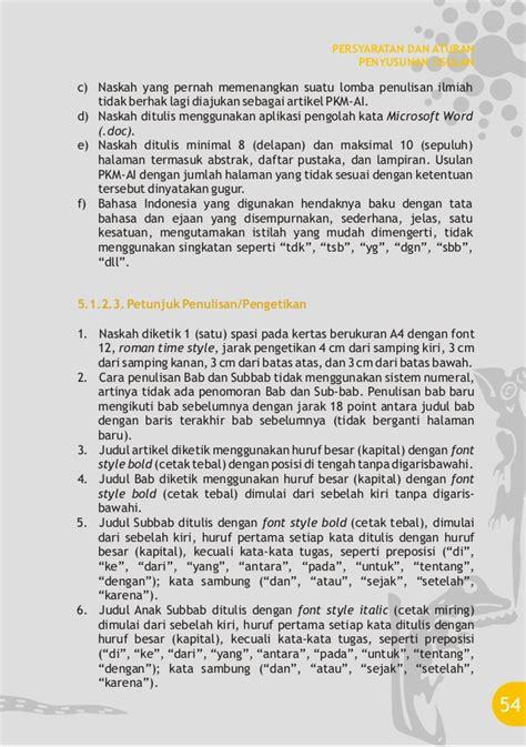 format abstrak pkm pkm 2012 6 format dan struktur usulan pkm karya tulis