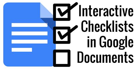 Control Alt Achieve Interactive Checklists In Google Docs Drive To Do List Template