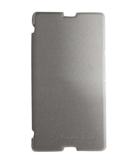 Flip Cover Sony Xperia E3 sony xperia e3 flip cover white flip covers at