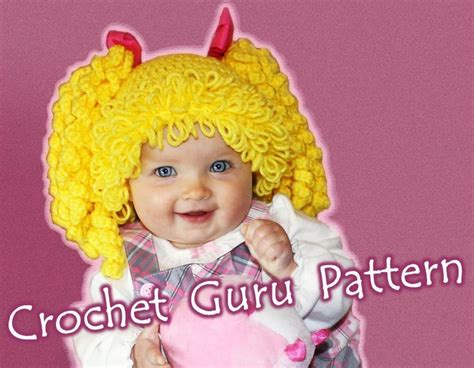 crochet pattern for cabbage patch kid hat cabbage patch wig pattern free crochet cabbage patch kid