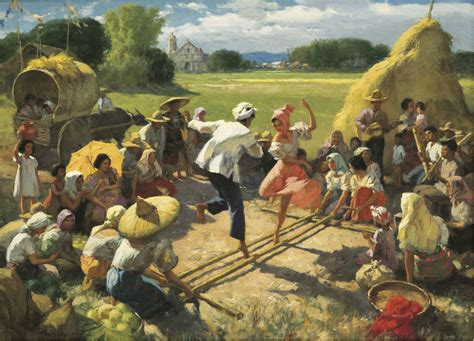 biography of filipino artist and their works painting quot tinikling quot by fernando amorsolo oil on canvas