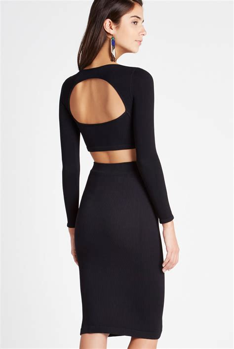 Open Back Sleeve Top sleeve open back crop top