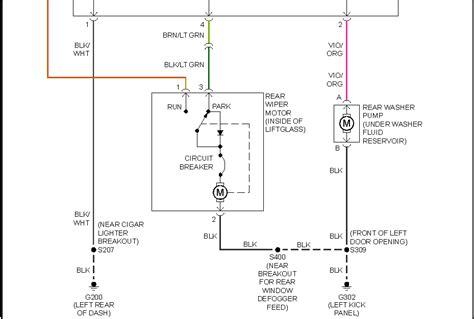 jeep yj rear wiper wiring diagram wiring diagrams