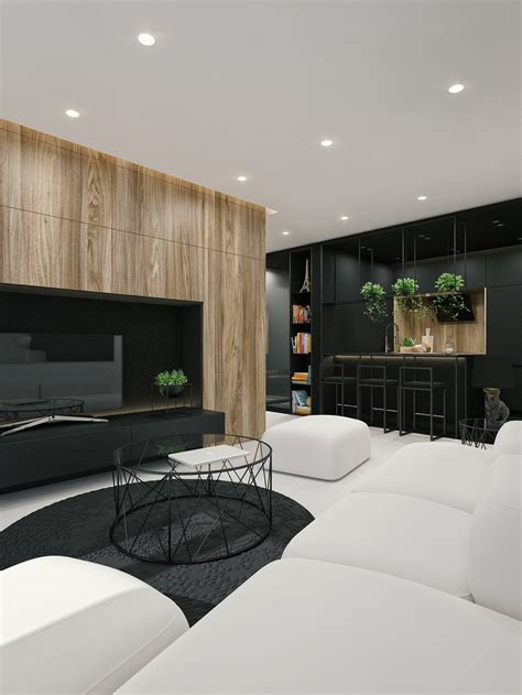 black and white interior black and white interior design ideas modern apartment by