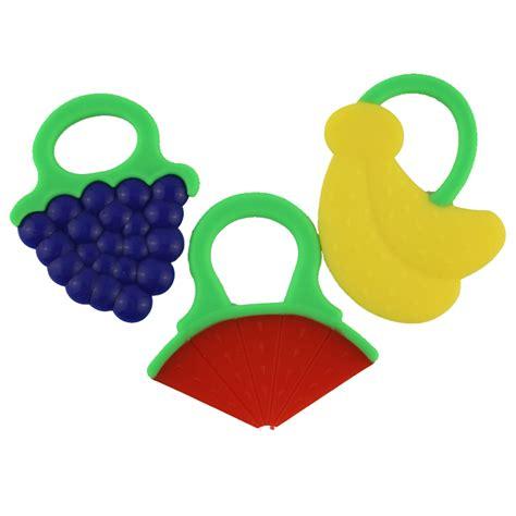 Gigitan Bayi 2 In 1 Banana Silicone Teether Desain Menarik fruit shape newborn baby infant silicone teether teething toys ring tooth care