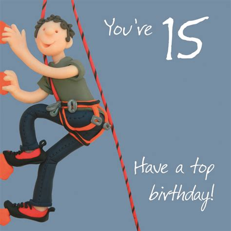 15 Year Birthday Cards Boys 15th Birthday Greeting Card Cards Love Kates