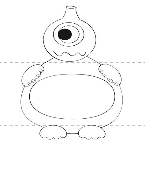 mosnter template free craft template make your own monsters print