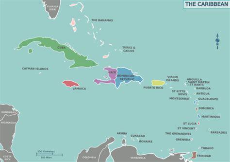 usa in map of world landkarten der karibik maps of the caribbean