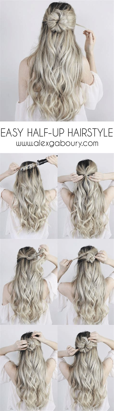 half up half hairstyles easy easy half up hairstyle with a twist alex gaboury