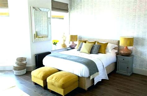 grey white and yellow bedroom gray and yellow bedding view