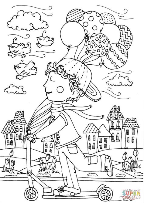 color for april boy in april coloring page free printable coloring
