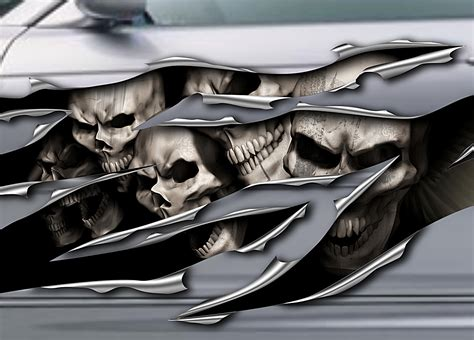 Autoaufkleber Drucken österreich by Skull Aufkleber Seitendekor Skull Autoaufkleber Totenk 246 Pfe