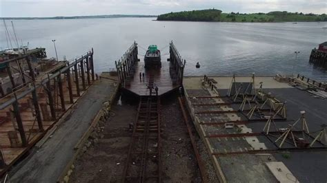 slipway and boat r barge dock 1200 ton slipway youtube