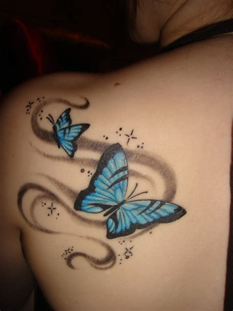 blue butterfly tattoo designs expo