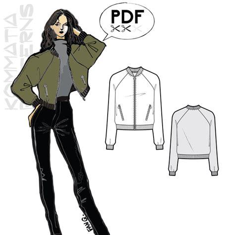 jacket design pdf j004 bomber jacket pdf sewing pattern by kommatia patterns