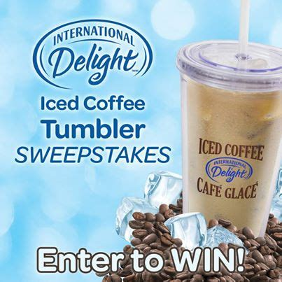 Sweepstakes International - international delight iced coffee tumbler sweepstakes