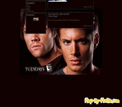 themes tumblr supernatural supernatural freak tumblr themes pimp my profile com