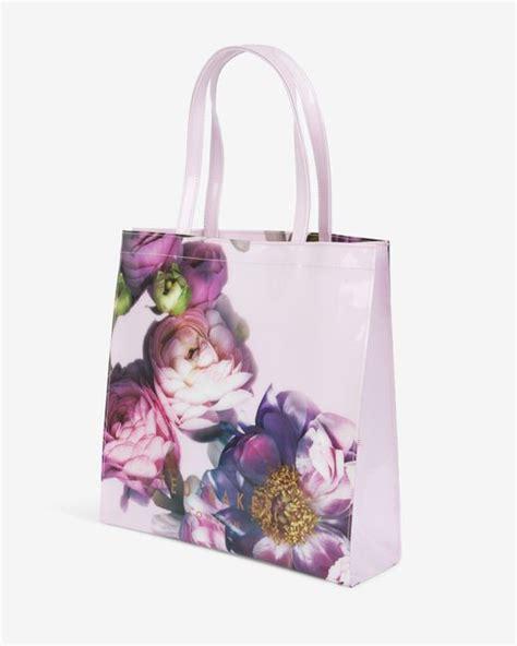 Floral Shopper Bag ted baker large sunlit floral shopper bag in pink pale