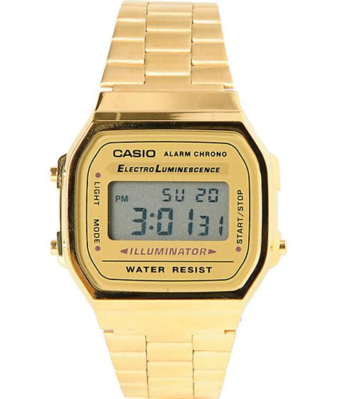 Casio Gold casio a159wa n1cr classic retro gold