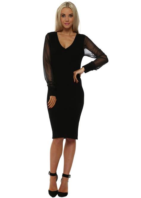 Premium Chiffon Dress Ds3715 Black a postcard from brighton pippa premium dress black