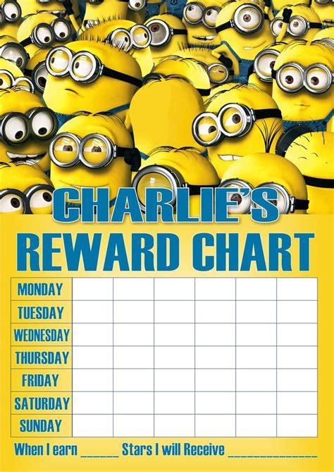 printable reward charts minions 9 best images of minion sticker reward chart minion