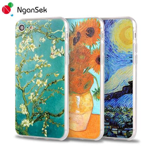 Softcase Starry Stickies Iphone 4 5 Se 6 Samsung S6 1 phone cases for iphone 7 plus 6 6s plus 5 5s se 4 floral plant vincent gogh starry sky