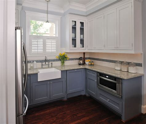 gray kitchen with white cabinets simplifying remodeling mix and match your kitchen cabinet