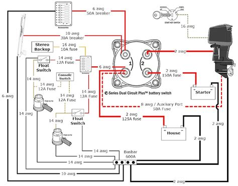 3 battery boat wiring schematic boat diagrams basic