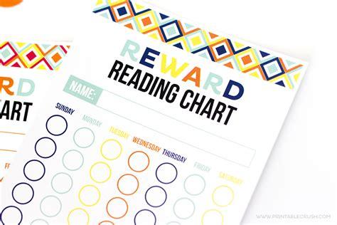 printable reward charts for reading free printable reward reading chart printable crush