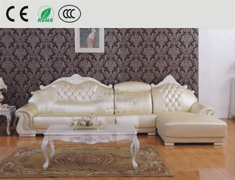 Apartment Couches Cheap by Cheap Cowhide Leather L Shaped Sofa Continental Sofa Thick