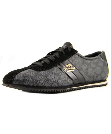 fashion sneakers coach leather black fashion sneakers in black lyst