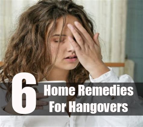 6 home remedies for hangovers treatment cure
